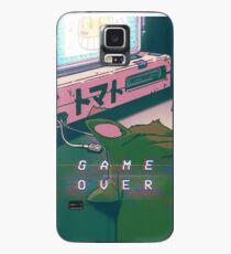 90S ANIME CAT GAME OVER VAPERWAVE GRUNGE PIXEL KAWAII Hülle & Skin für Samsung Galaxy