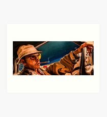 fear and loathing print Art Print