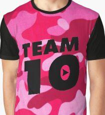 pink camo team 10- jake paul Graphic T-Shirt