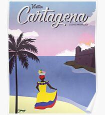 Weinlese-Reise-Plakat Cartagenas Poster