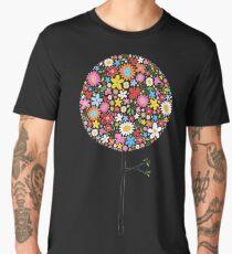 Whimsical Colorful Spring Flowers Pop Tree Men's Premium T-Shirt