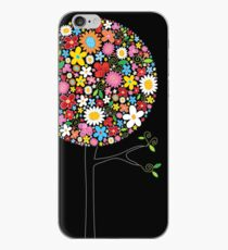 Whimsical Colorful Spring Flowers Pop Trees iPhone Case