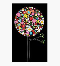 Whimsical Colorful Spring Flowers Pop Trees Photographic Print