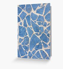 Cubian Blue Tiles Greeting Card