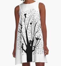 Musical Tree - Australian Bird Calls A-Line Dress