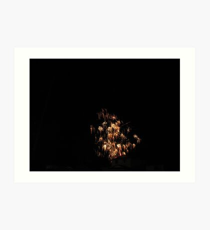 The neighbors  fireworks Art Print