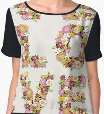 LOVE Spring Flowers in Pink Chiffon Top