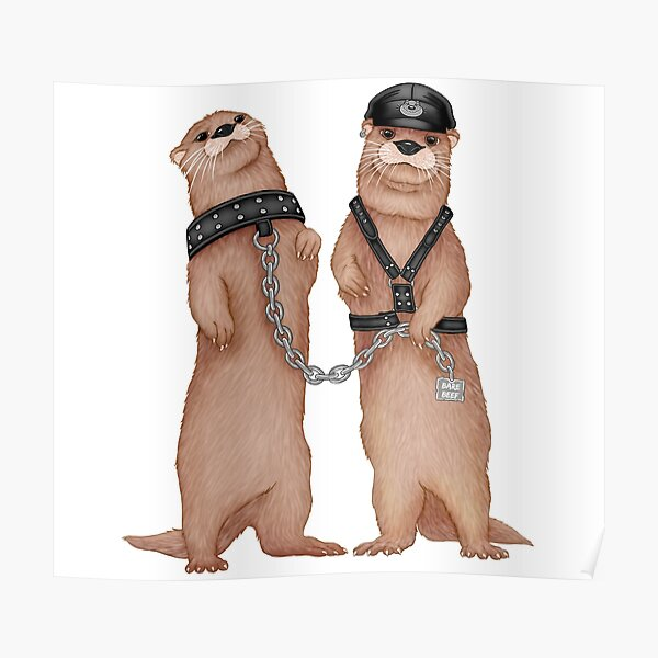 Kinky Otters Poster