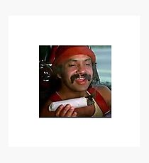 Cheech smoking a fat joint Photographic Print