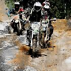 Oncoming!  - Motocross Racers by NaturePrints