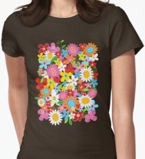 Whimsical Spring Flowers Power Garden II Women's Fitted T-Shirt
