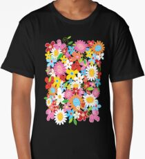 Whimsical Spring Flowers Power Garden II Long T-Shirt