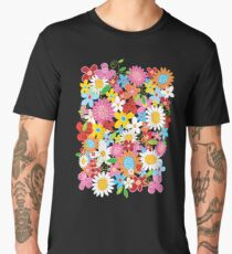 Whimsical Spring Flowers Power Garden II Men's Premium T-Shirt