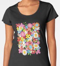 Whimsical Spring Flowers Power Garden II Women's Premium T-Shirt