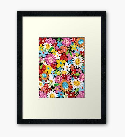 Whimsical Spring Flowers Power Garden II Framed Print