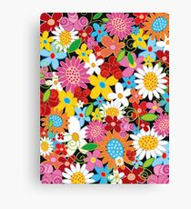 Whimsical Spring Flowers Power Garden II Canvas Print