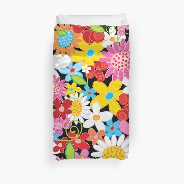 Whimsical Spring Flower Power Garden II Duvet Cover