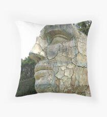 Florence Series #10 - Giant Face in Boboli Gardens Throw Pillow