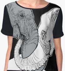Elephants Women's Chiffon Top