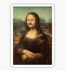Ron Swanson Mona Lisa Sticker