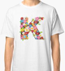 Spring Flowers Alphabet K Monogram Classic T-Shirt