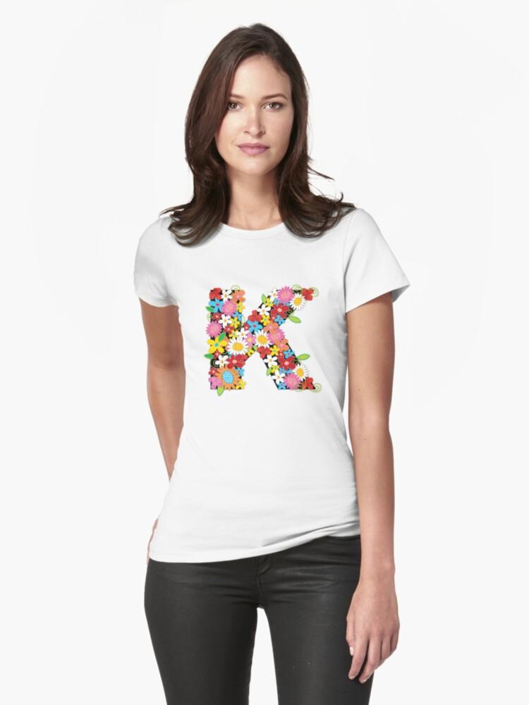 Spring Flowers Alphabet K Monogram by fatfatin