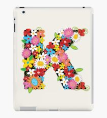 Spring Flowers Alphabet K Monogram iPad Case/Skin