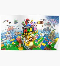 Super Mario 3D World game art Poster