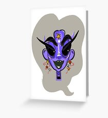 purple witch Greeting Card