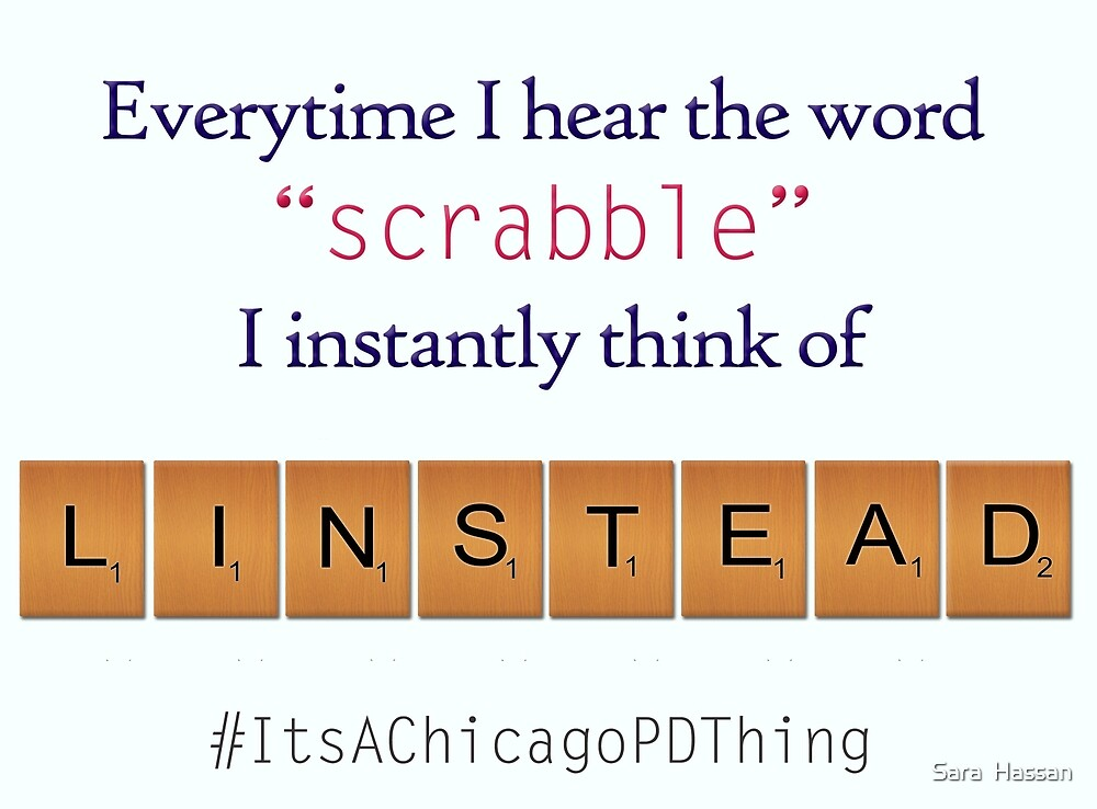 Scrabble = Linstead by Sara  Hassan