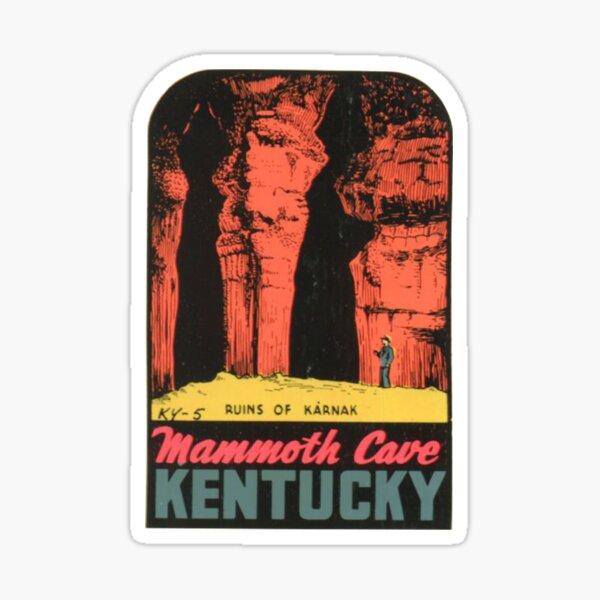 Mammoth Cave National Park - Ruins Of Karnak- Vintage Travel Decal Kentucky Sticker
