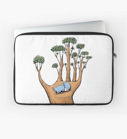 Tree Hand with Cute Sleepy Koala Laptop Sleeve