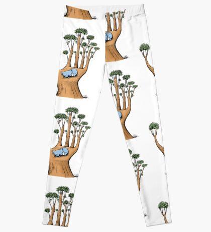 Tree Hand with Cute Sleepy Koala Leggings