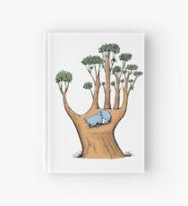Tree Hand with Cute Sleepy Koala Hardcover Journal