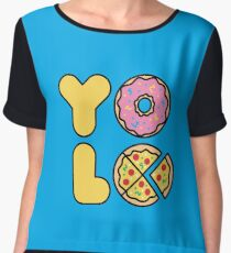 YOLO You Only Lift Once Women's Chiffon Top