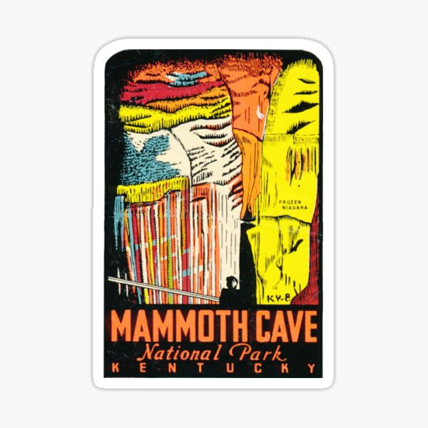 Mammoth Cave National Park Vintage Travel Decal Frozen Niagara Sticker