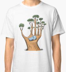 Tree Hand with Cute Sleepy Koala Classic T-Shirt