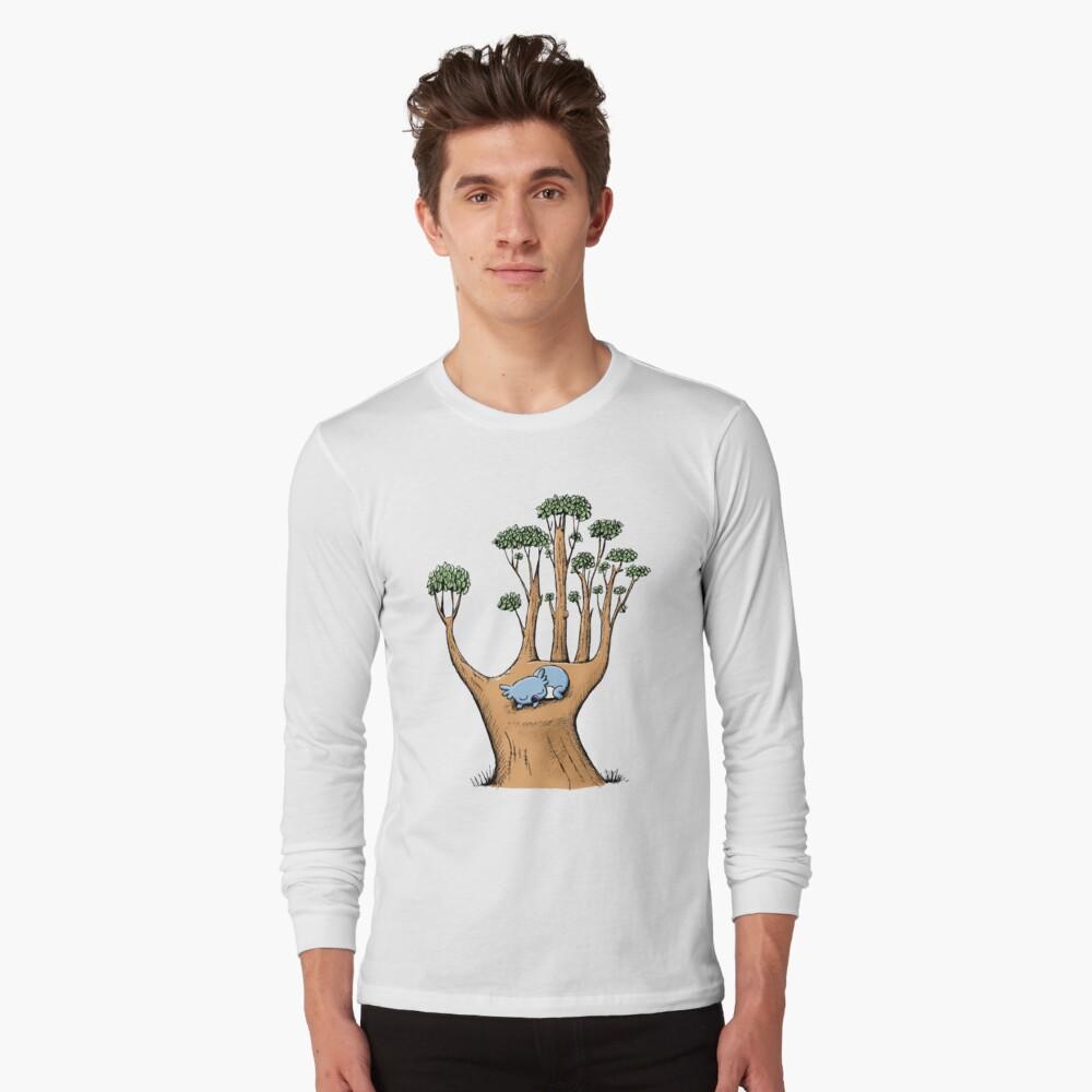 Tree Hand with Cute Sleepy Koala Long Sleeve T-Shirt