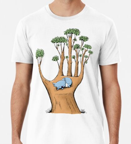 Tree Hand with Cute Sleepy Koala Premium T-Shirt