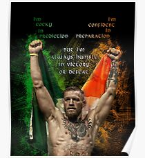 Notorious Conor McGregor holding up the Irish flag Poster