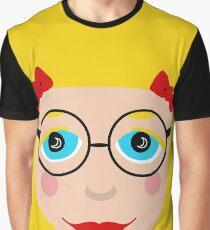 Blond Hair Blue Eyed Girl Graphic T-Shirt