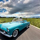 '56 T-bird in the Open Spaces by Adam Bykowski