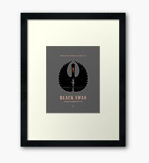 Black Swan Framed Print