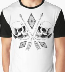 Double Skull Graphic T-Shirt
