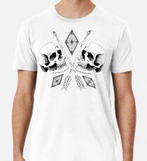 Doppelter Schädel Premium T-Shirt
