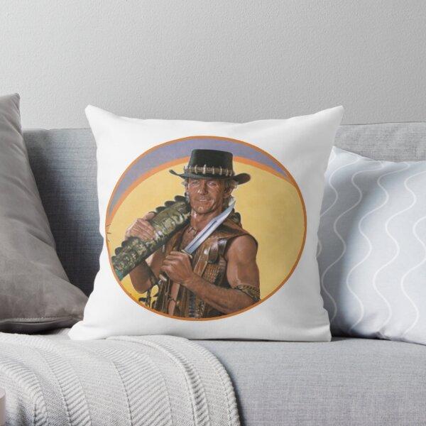 Crocodile Dundee Throw Pillow
