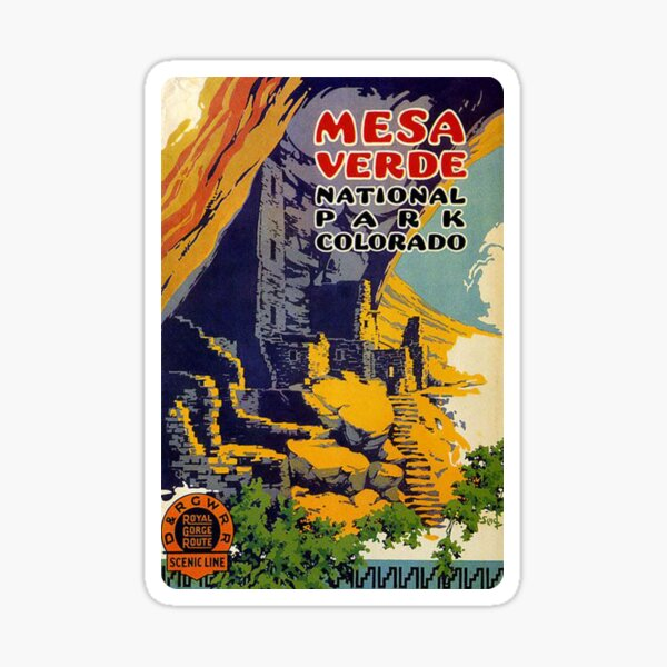 Mesa Verde National Park Colorado Royal Gorge Route Travel Decal Sticker