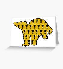 Badger Goblet Print Greeting Card