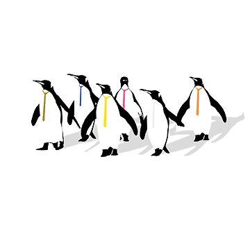 Penguins by pixledust