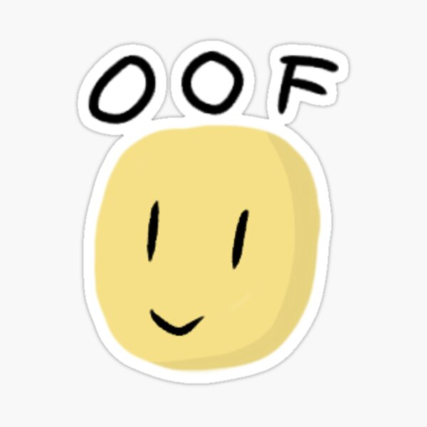 Noob Oof Stickers Redbubble